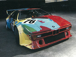 Andy Warhol BMW Art Car - The BMW M1 Group Racing Version painted by Warhol is on display!!