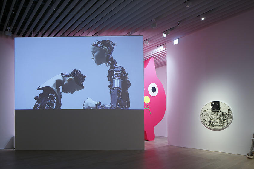 Installation view: