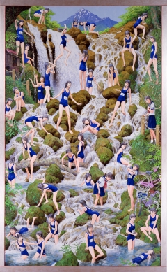 《滝の絵》 2007,10年アクリル絵具、キャンバス 439×272cm 国立国際美術館蔵、大阪. Courtesy Mizuma Art  Gallery